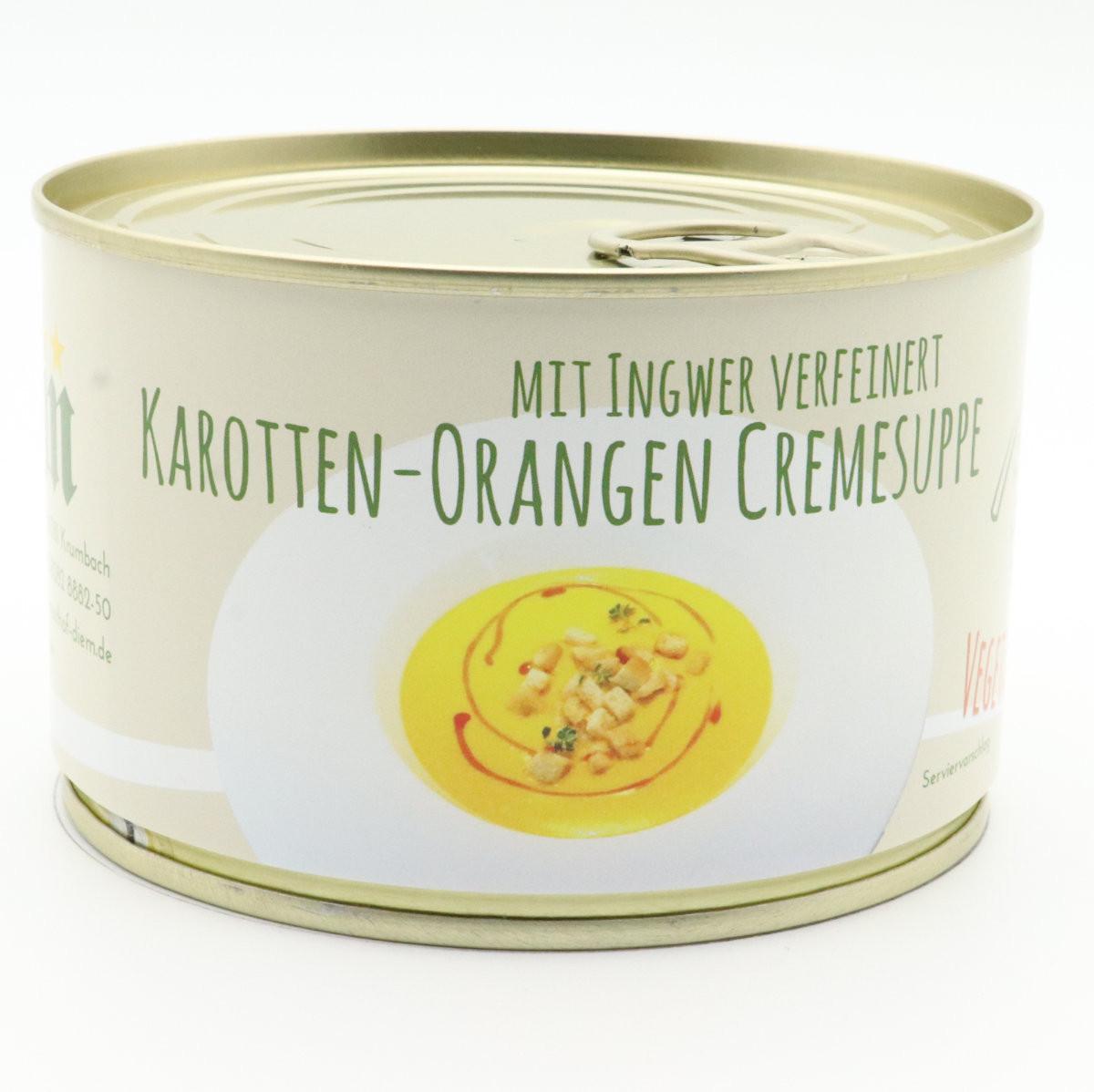 Karotten-Orangen Cremesuppe mit Ingwer verfeinert 400g