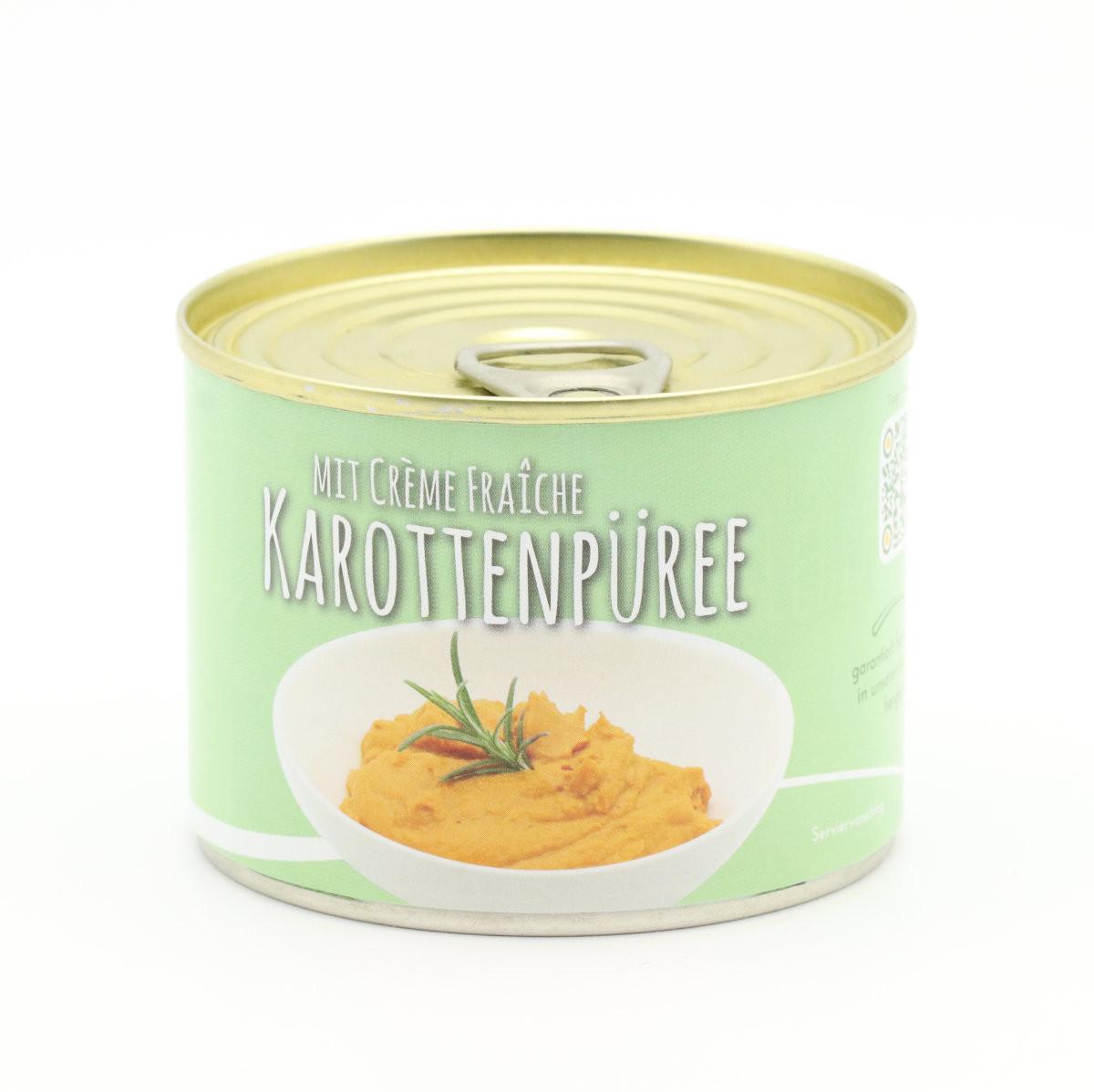 Karotten Püree mit Creme Fraiche verfeinert. 200g Dose