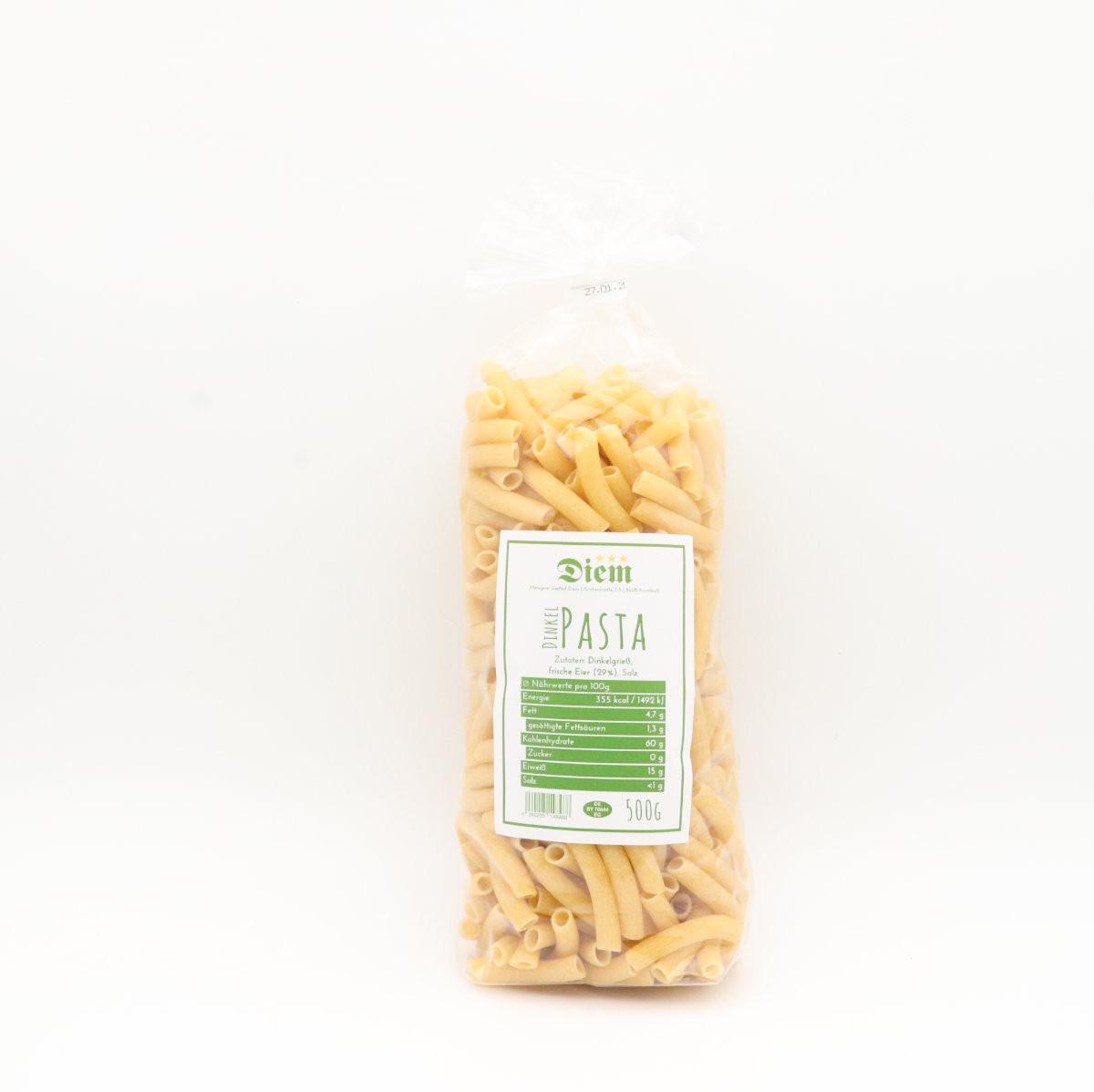 Diem Dinkel Pasta - hausgemachte Eiernudeln mit Dinkelmehl - 500g - Makkeroni -
