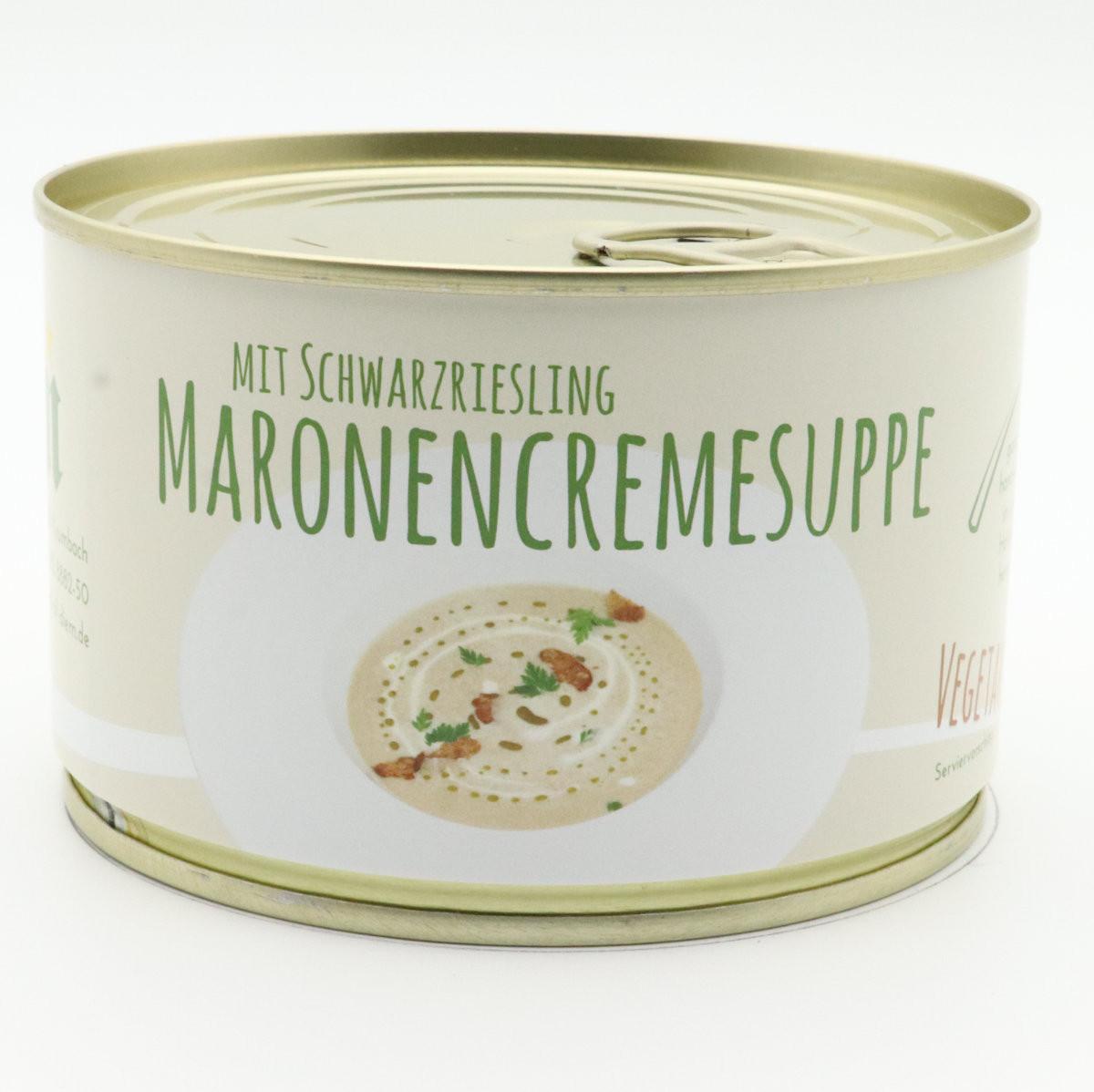 Maronencremesuppe mit Schwarzriesling