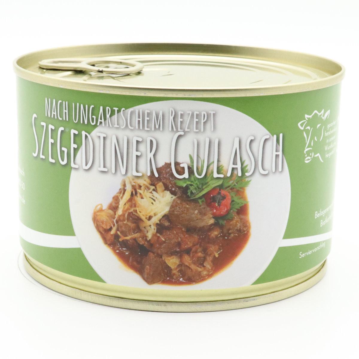 Szegediner Gulasch mit Sauerkraut in deftiger Soße 400g