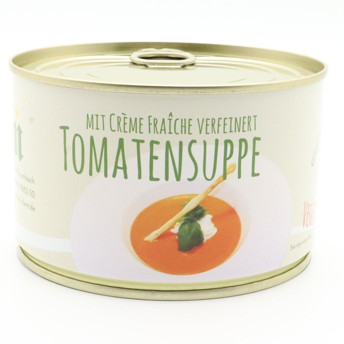 Tomatensuppe mit Créme Frâiche verfeinert