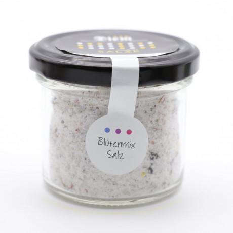 Blüten Mix Salz mit Allgäuer Wiesen Blüten – 100g Weckglas