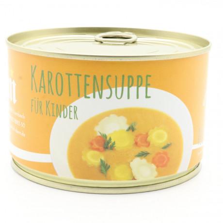 Karottensuppe mit zweierlei Karotten