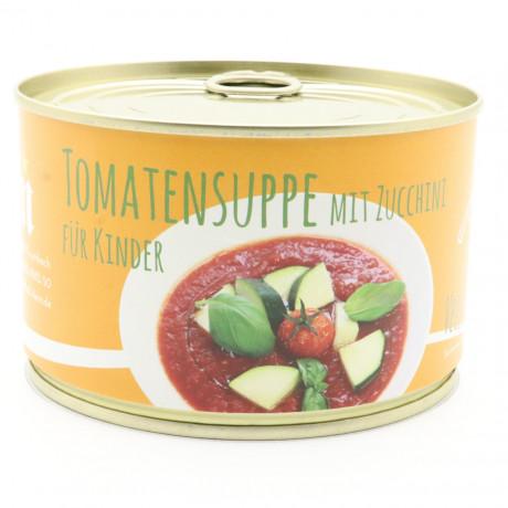 Tomatensuppe für Kinder mit Zucchini