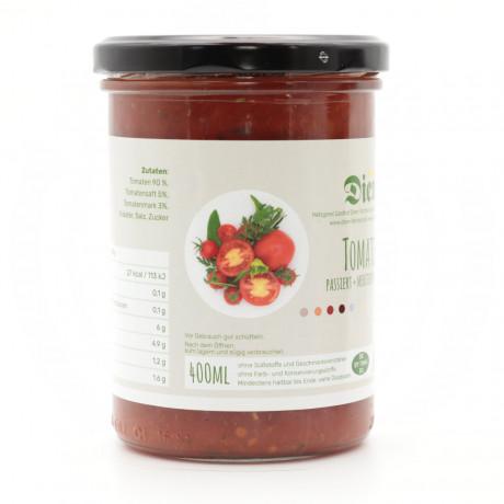 Passierte Tomaten – mediterran abgeschmeckt  -  400g Glas
