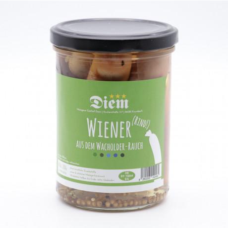 Wiener vom Rind in Wachholder Rauch geräuchert NÄHRWERTE