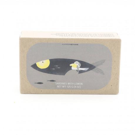 Sardinen in Nativem Olivenöl Extra mit Zitrone -  125g - Abtropfgewicht 90g - Jose Gourmet - Konserve