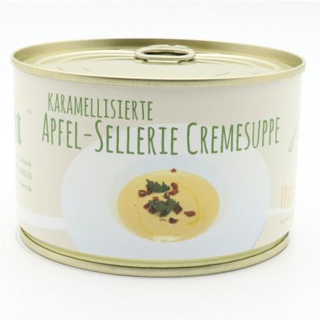 karamellisierte Apfel Sellerie Creme Suppe