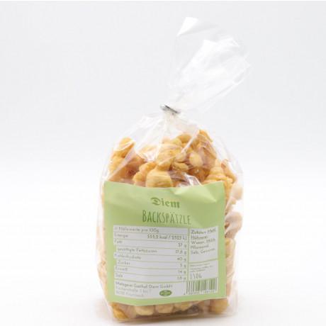 Backspätzle mit Weizenmehl, Backerbsen, Suppeneinlage - Diem 150g Packung