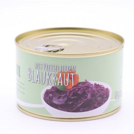 Blaukraut / Rotkohl mild gewürzt mit Preiselbeeren verfeinert – Verzehrfertig 400g
