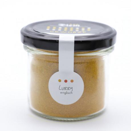 Curry Englisch, unser Lieblings Curry - Extra sanft und nicht scharf -  50g im Weckglas