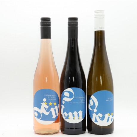 Weinpaket DIEM - Käseweiß, Roségold, Blutwurstrot - Weine für einen Gemütlichen Abend. 3 x 0,75l