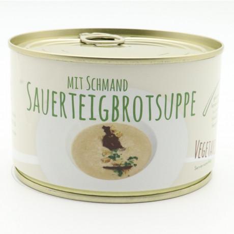 Sauerteig-Brotsuppe mit Schmand