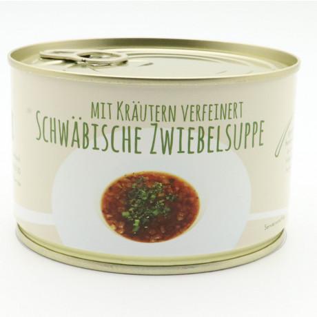 Schwäbische Zwiebelsuppe mit Kräutern verfeinert